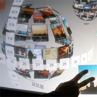 3d multi-touch interface