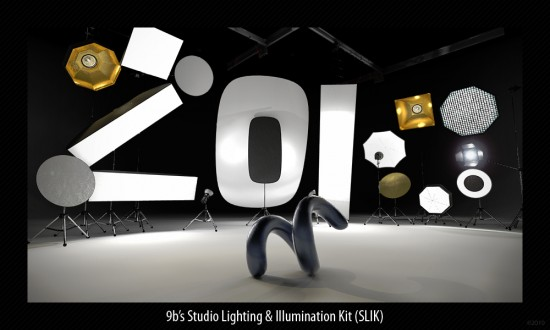 "Luxology modo ""Studio Lighting & Illumination Kit"" by Yazan Malkosh (rendering of lighting)"