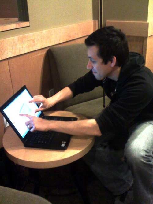 Using SpaceClaim 2009+ with multitouch in a cafe, on a laptop, to create and modify 3D geometry. Amazing really.