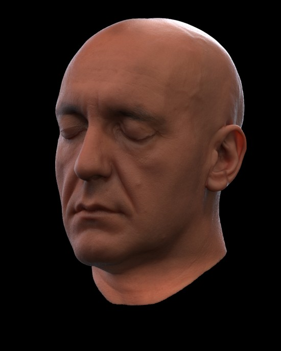 Example of KeyShot's realtime raytraced subsurface scatter that is part of KeyShot 2.1