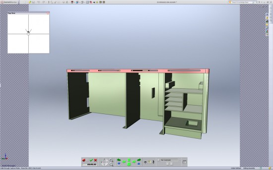 SolidWorks 2011 features a new tool to create walk throughs of your models. (Click to Enlarge)
