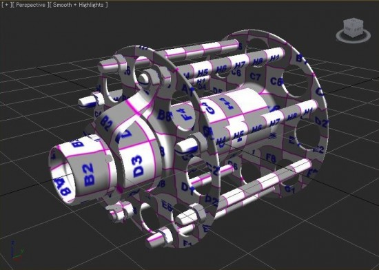 This model was transferred from modo 501 to 3ds Max 2010 using Turbosmooth and FBX 2010.2 file transfer