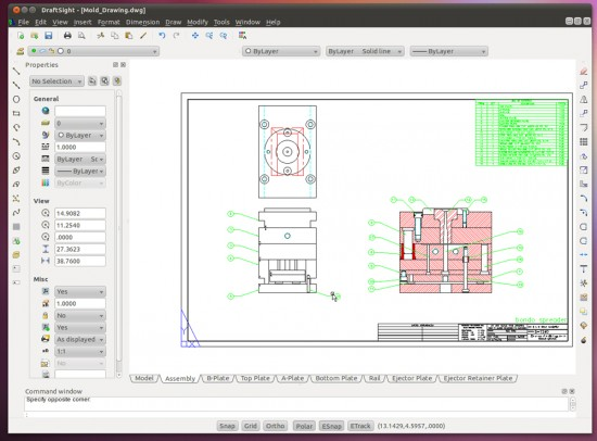 Does this do it for ya? DraftSight 2D CAD on Linux.
