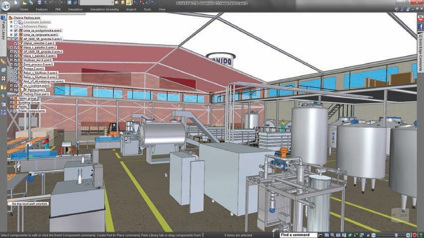 How would you approach a large assembly design solution?