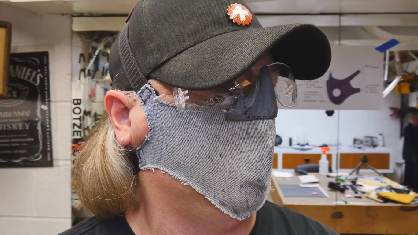Eye Protected Dust Mask