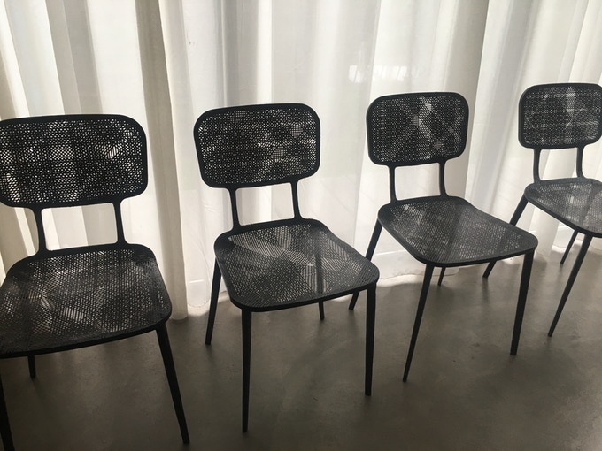 recycled carbon chair