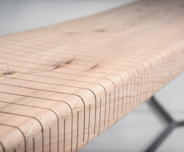 This Bendable Wood Bench Is Material Manipulation at It's Finest