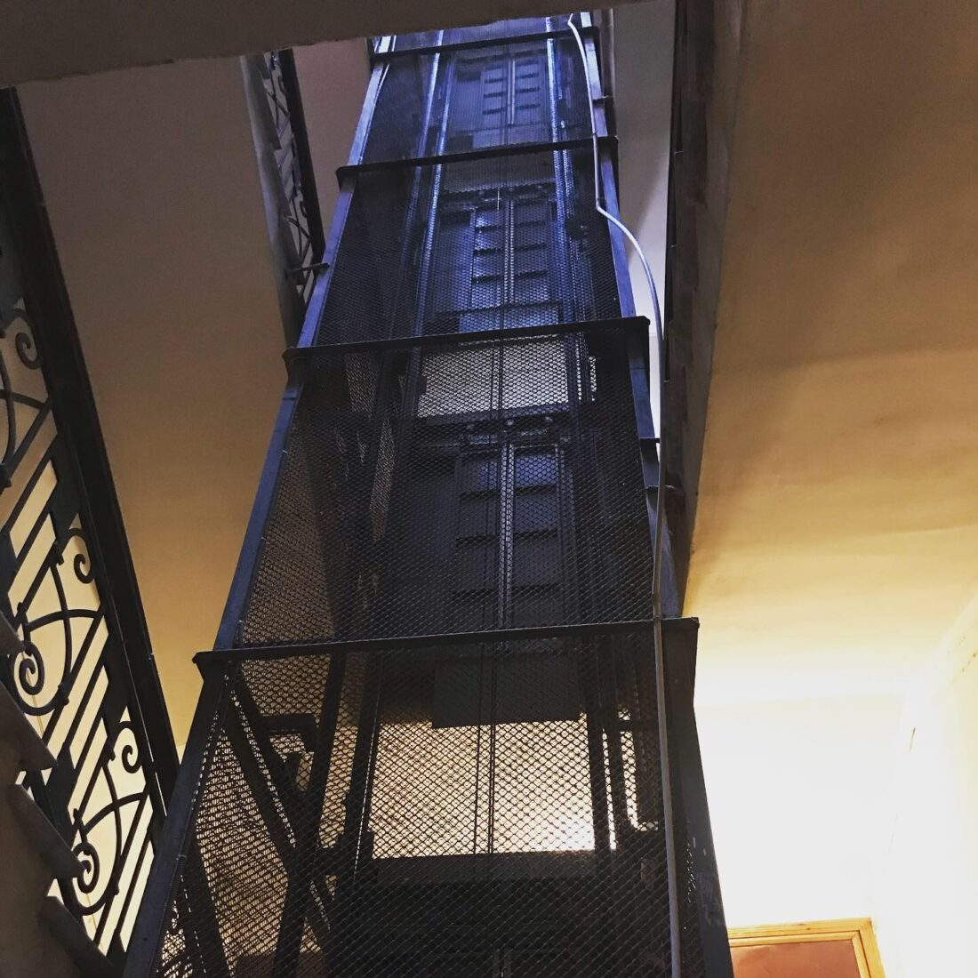 Kiev's Tower of Terror, aka, the elevator where I was staying.