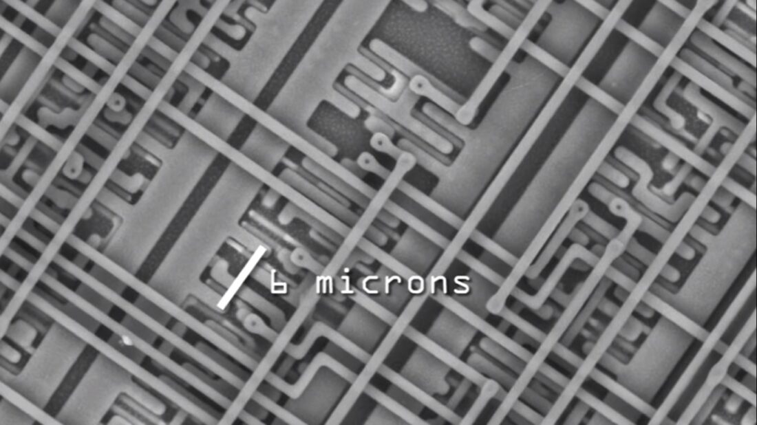 zoomed in microchip
