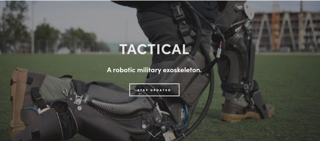 On Roam Robotics' website, this is about all the information you'll find on military applications.