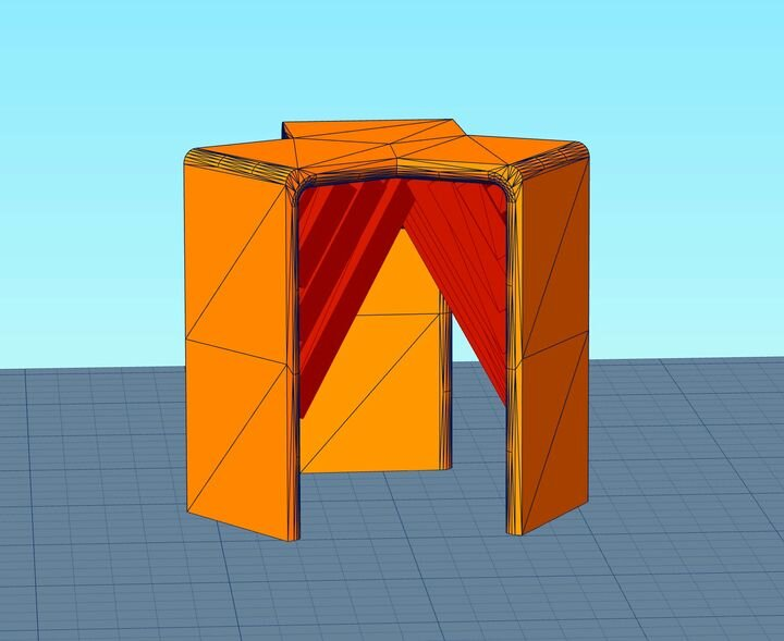 Final 3D model including optimized support structures [Source: Fabbaloo]