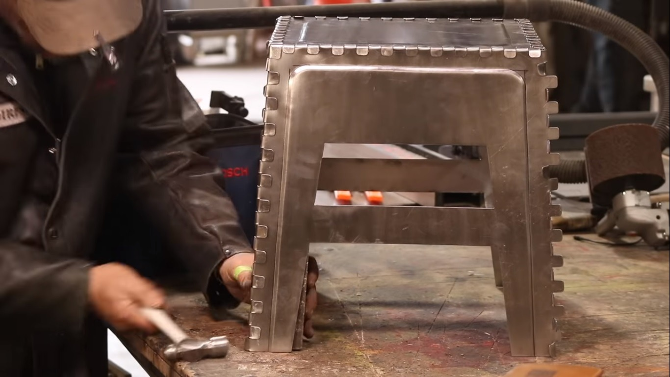 steel finger joint stool