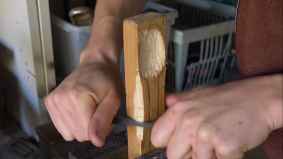 making a spoon using a spoon